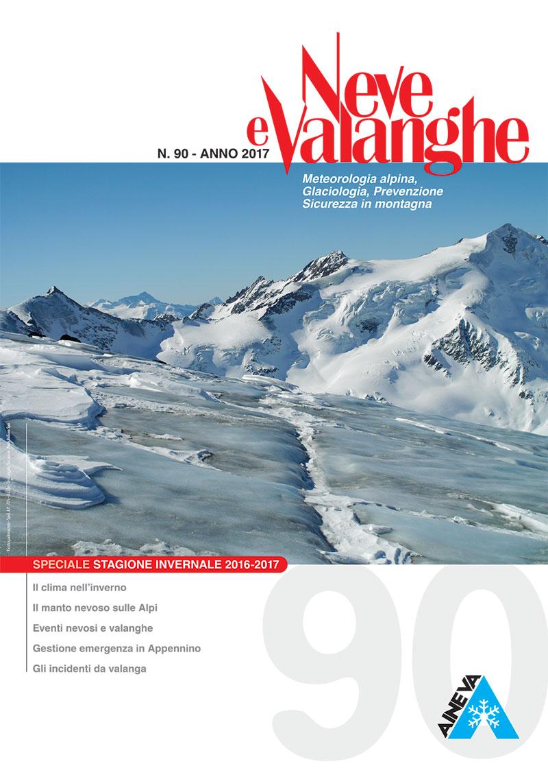 Rivista Neve e Valanghe – n. 90